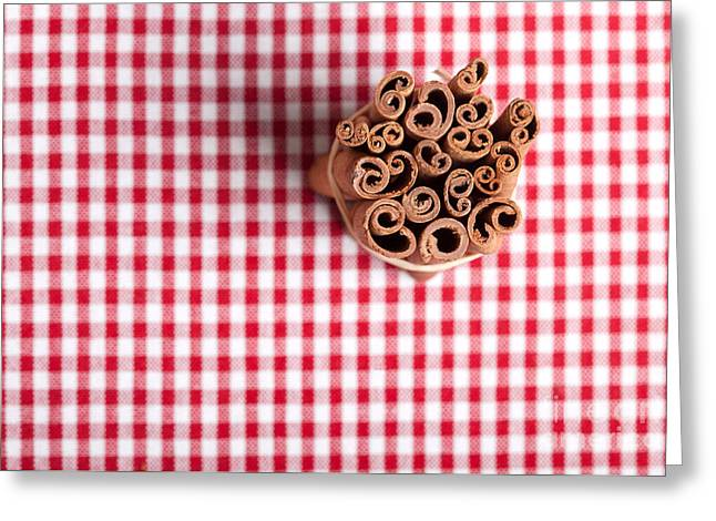 Cloth Greeting Cards - Cinnamon Greeting Card by Nailia Schwarz