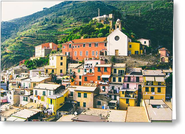 Cinque Terre 2 Greeting Card by Ariane Moshayedi