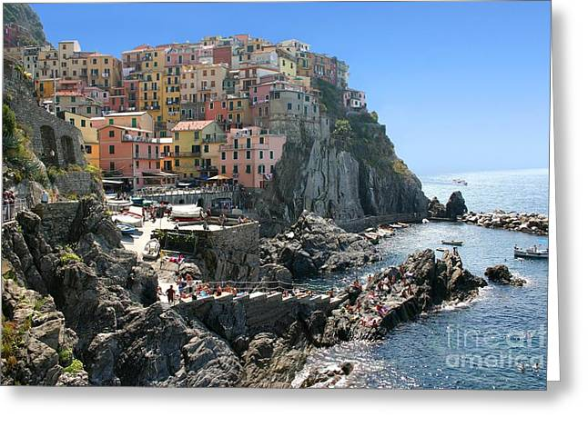 Portofino Italy Greeting Cards - Cinque Terre in Italy Greeting Card by Giancarlo Liguori