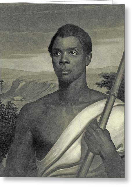 Cinque, The Chief Of The Amistad Captives Greeting Card by J Sartain
