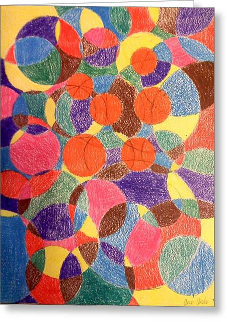Circle Pastels Greeting Cards - Circle Abstract Greeting Card by Anca Andrei