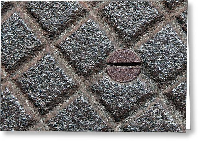 Industrial Concept Photographs Greeting Cards - Circle And Squares Greeting Card by Dan Holm