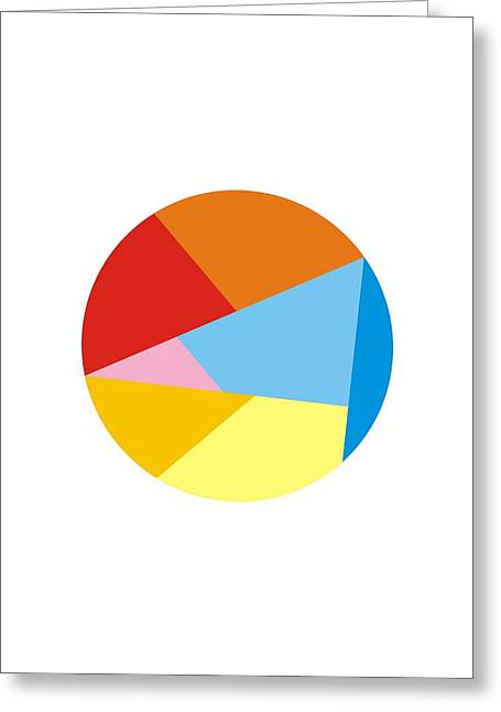 Circle Pastels Greeting Cards - Circle Dynamic Greeting Card by Blackzneo