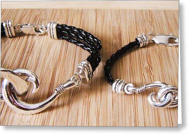 Striped Marlin Greeting Cards - Circle Hook Bracelet Greeting Card by Carey Chen