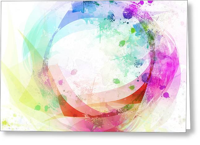 Abstract Movement Greeting Cards - Circle Of Life Greeting Card by Setsiri Silapasuwanchai