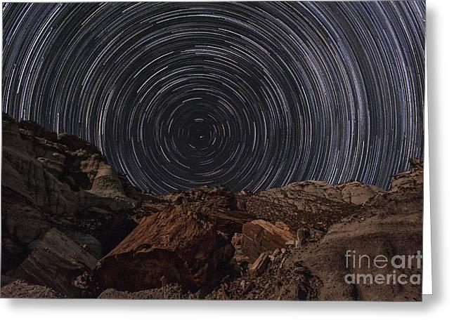 Circle Of Time Greeting Card by Melany Sarafis