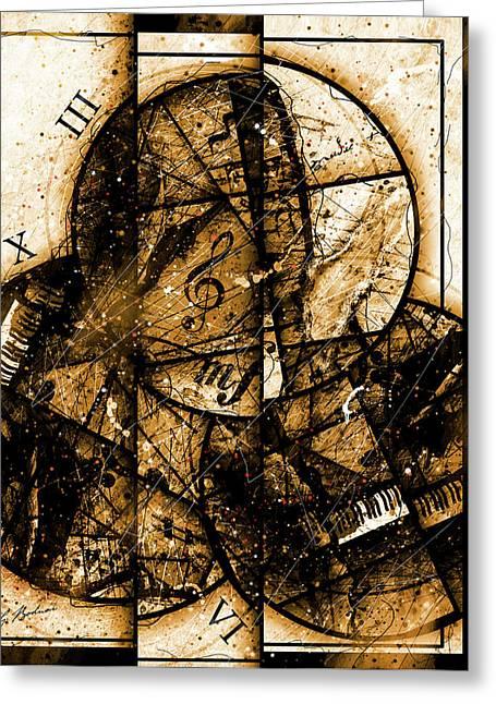 Circleladian Rhythms East Greeting Card by Gary Bodnar