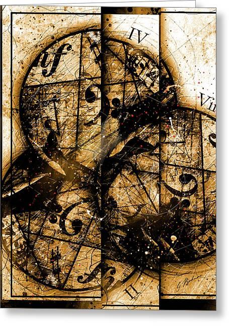 Circleladian Rhythms West Greeting Card by Gary Bodnar