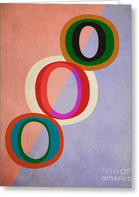 Line Design Greeting Cards - Circles Abstract Greeting Card by Edward Fielding