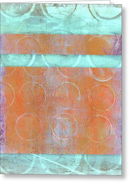 Greeting Cards - Circles and Rectangles Abstract  Greeting Card by Carol Leigh