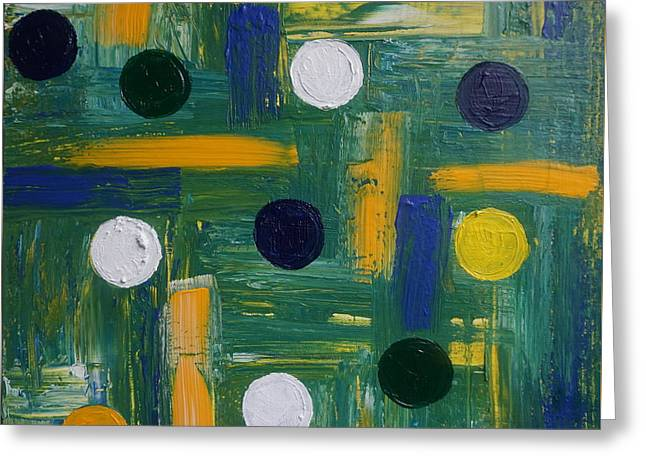 White Paintings Greeting Cards - Circles Greeting Card by Jimmy Clark