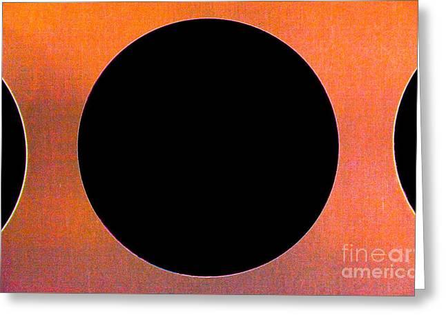 Abstract Shapes Greeting Cards - Circles OTC Greeting Card by Thomas Carroll