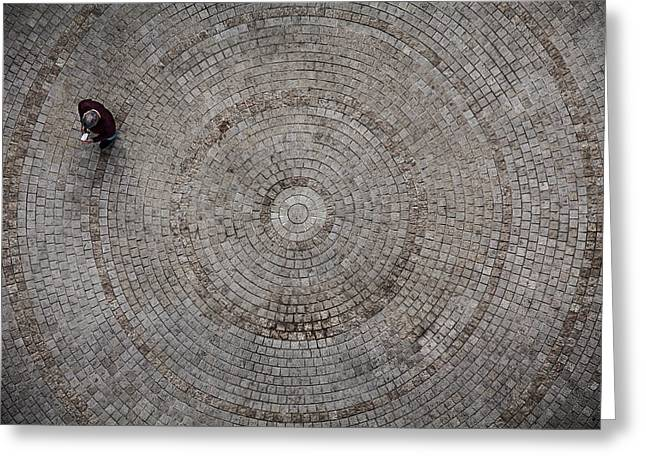 Patterned Greeting Cards - Circles Greeting Card by Tomer Eliash