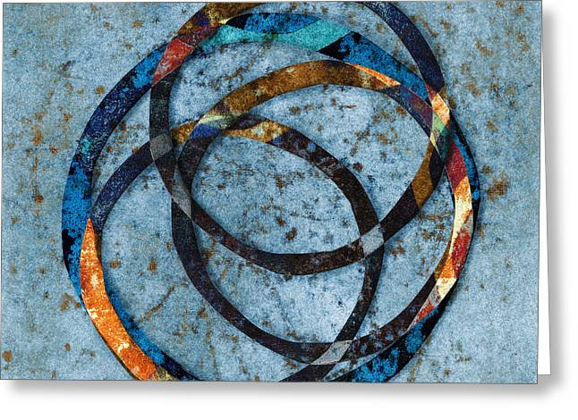 Enso Greeting Cards - Circles Within Greeting Card by Carol Leigh