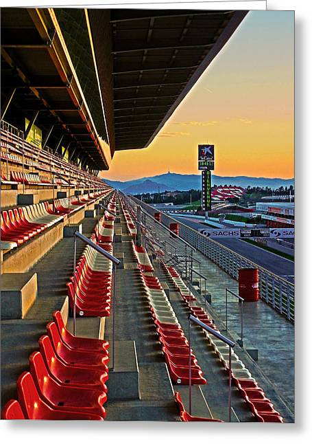 Circuit De Catalunya - Barcelona  Greeting Card by Juergen Weiss