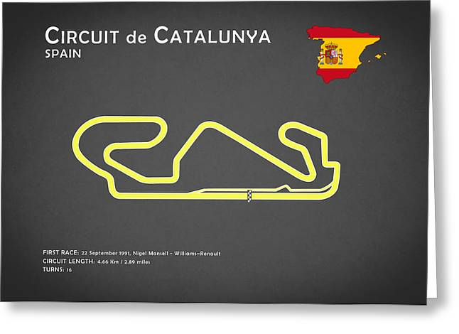 Circuit Greeting Cards - Circuit de Catalunya Greeting Card by Mark Rogan