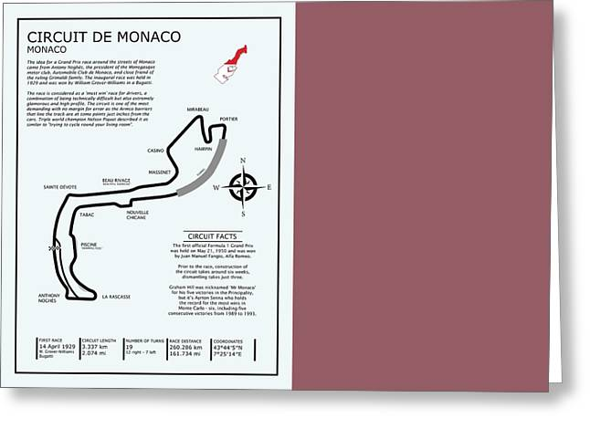 Monaco Greeting Cards - Circuit of Monaco Greeting Card by Mark Rogan