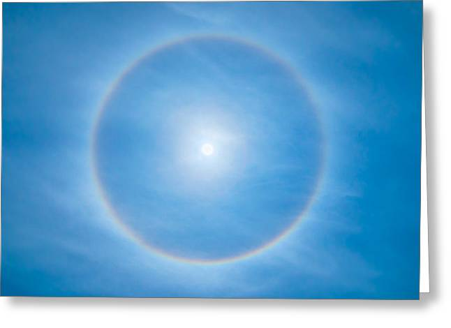 Weather Photographs Greeting Cards - Circular halo Greeting Card by Delphimages Photo Creations