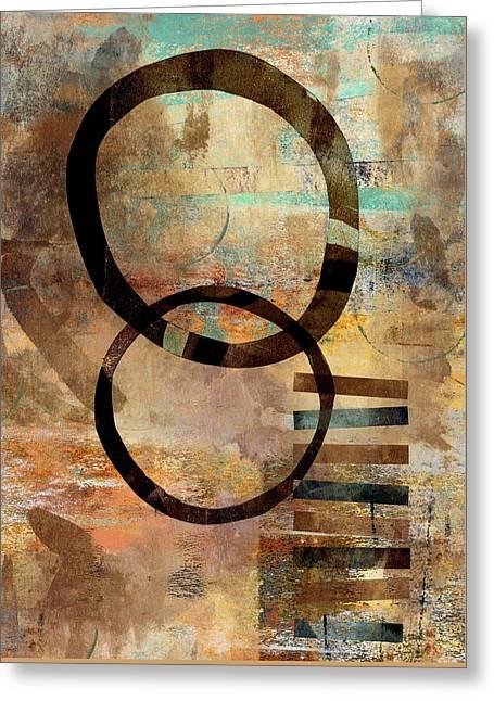 Circular Lines Greeting Card by Carol Leigh