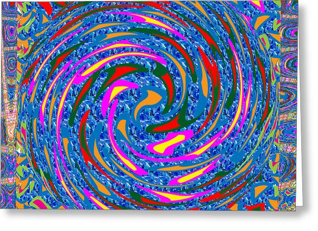Surprise Greeting Cards - Circular Motion Waves Colorful  Abstract Art Greeting Card by Navin Joshi