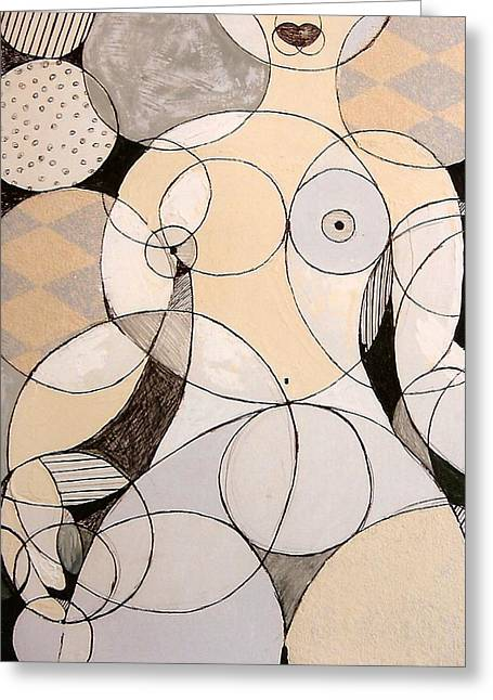 Circularity Greeting Card by Joanne Claxton