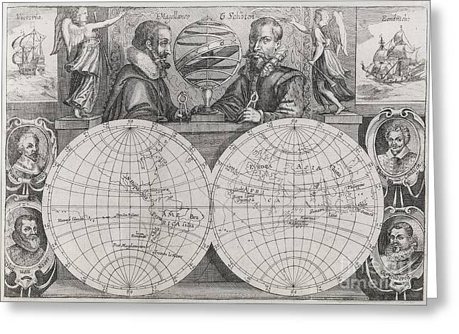 Spice Route Greeting Cards - Circumnavigators, 16th-17th Century Greeting Card by Middle Temple Library