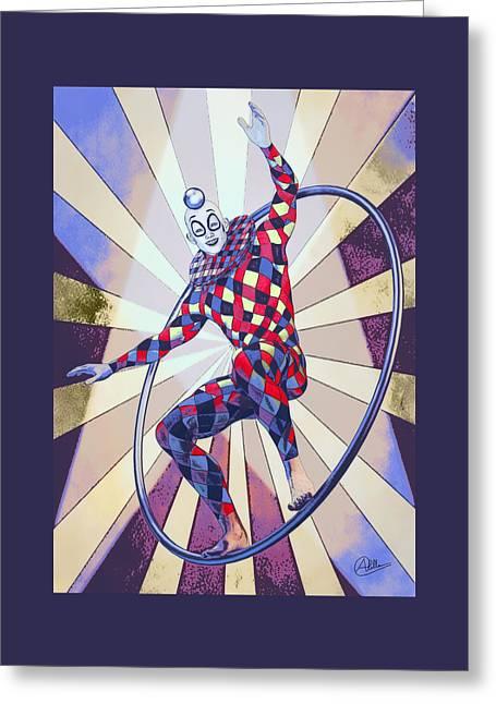 Circus Boy  Greeting Card by Quim Abella