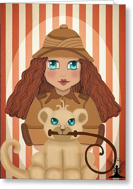 Tamer Greeting Cards - Circus Lion Tamer Greeting Card by Lee DePriest