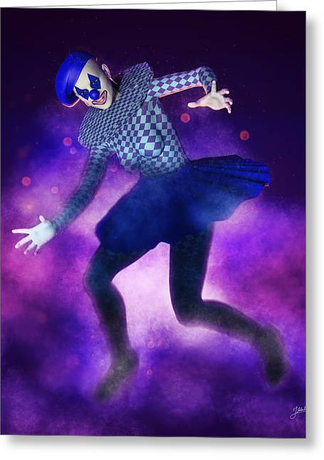 Circus Of Horrors - Crazy Doll Greeting Card by Joaquin Abella