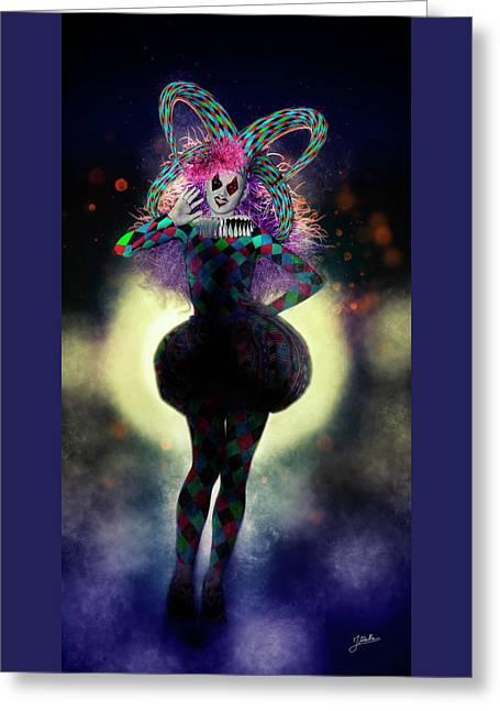 Circus Of Horrors - Killer Doll Greeting Card by Joaquin Abella