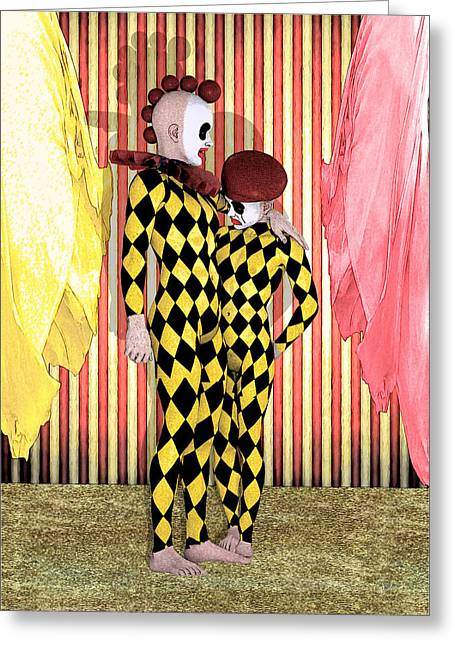 Doll Drawings Greeting Cards - Circus of the Boys By Quim Abella Greeting Card by Joaquin Abella
