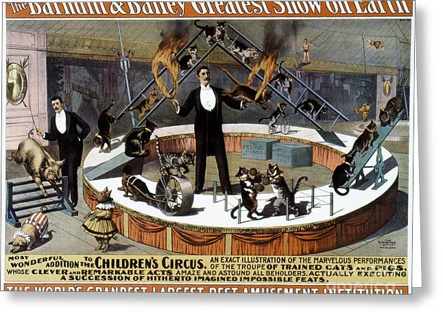 1890s Greeting Cards - CIRCUS POSTER, 1890s Greeting Card by Granger