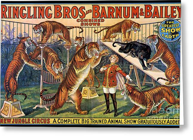 Circus Poster, 1920s Greeting Card by Granger