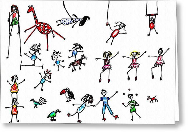 Sarah Loft Drawings Greeting Cards - Circus Greeting Card by Sarah Loft