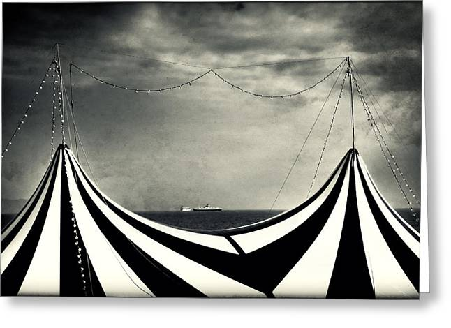 Split Toning Greeting Cards - Circus with distant ships Greeting Card by Silvia Ganora