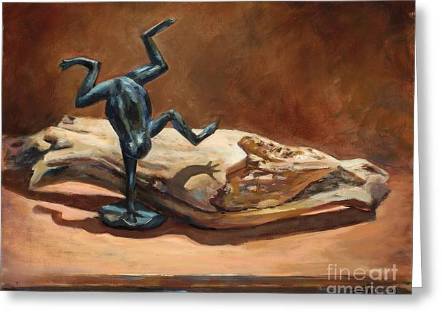 Paintng Greeting Cards - Cirque de Frog Greeting Card by Billie Colson