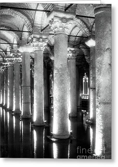 Sultanhmet Greeting Cards - Cistern Columns Greeting Card by John Rizzuto
