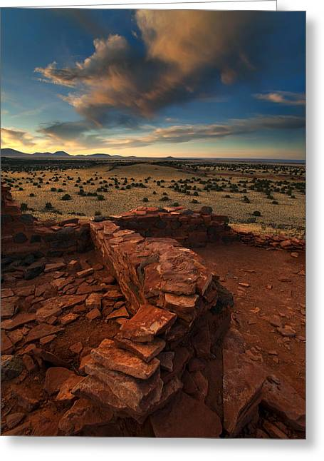 Pueblo Greeting Cards - Citadel Walls Greeting Card by Mike  Dawson