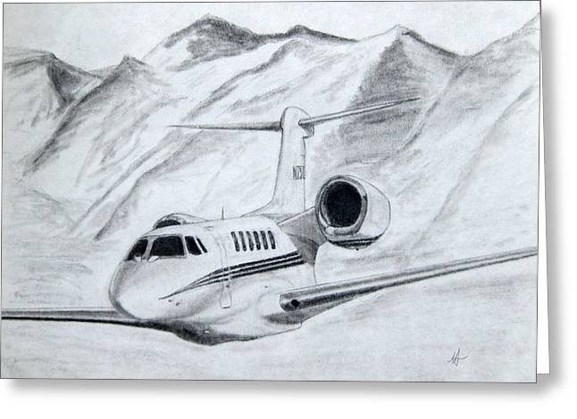 Cessna Greeting Cards - Citation X  Greeting Card by Nicholas Linehan