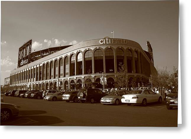 Citi Field - New York Mets 14 Greeting Card by Frank Romeo