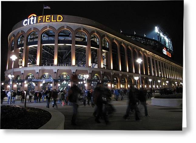 Mets Stadium Greeting Cards - Citi Field Opening Night 2009 Greeting Card by Peter Aiello