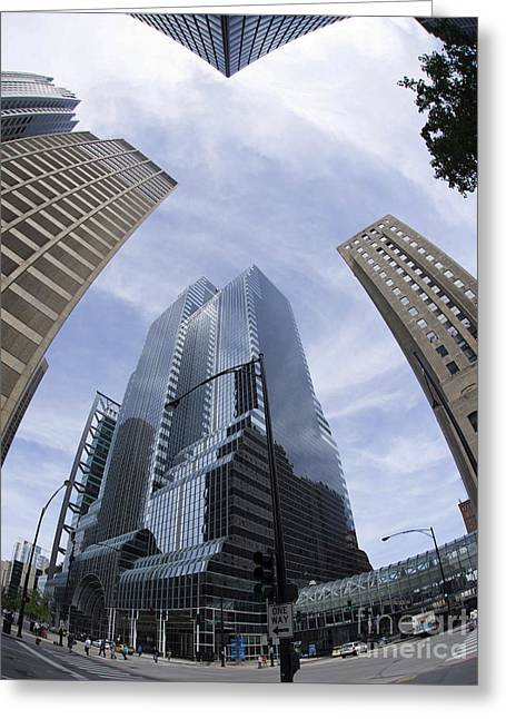 Metra Greeting Cards - Citicorp Center Chicago Greeting Card by David Bearden