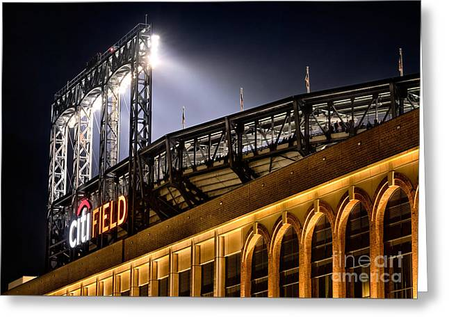 Baseball Stadiums Greeting Cards - CitiField Greeting Card by Jerry Fornarotto