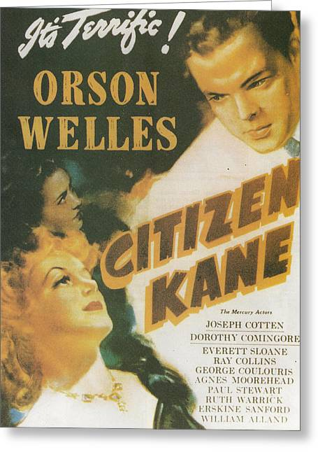 Citizen Kane - Orson Welles Greeting Card by Georgia Fowler