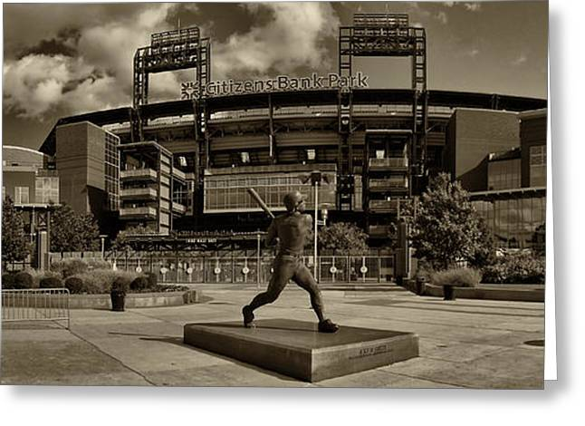 Citizens Park Panoramic Greeting Card by JACK PAOLINI