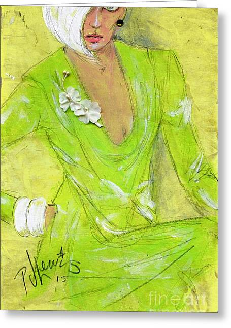 Lime Drawings Greeting Cards - Citron Greeting Card by P J Lewis