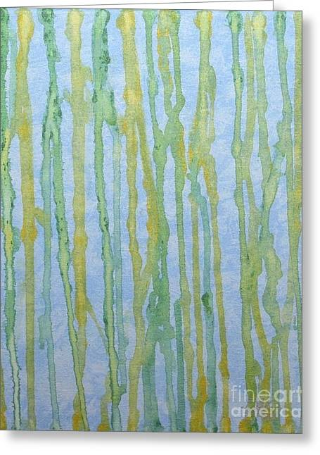 Lemon Art Greeting Cards - Citrus Drip Greeting Card by Rebecca Anne Robinson