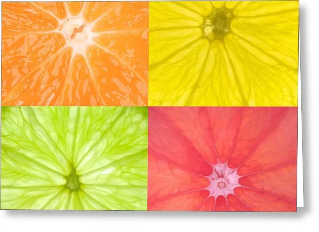 Fresh Food Photographs Greeting Cards - Citrus Fruits Greeting Card by Richard Thomas