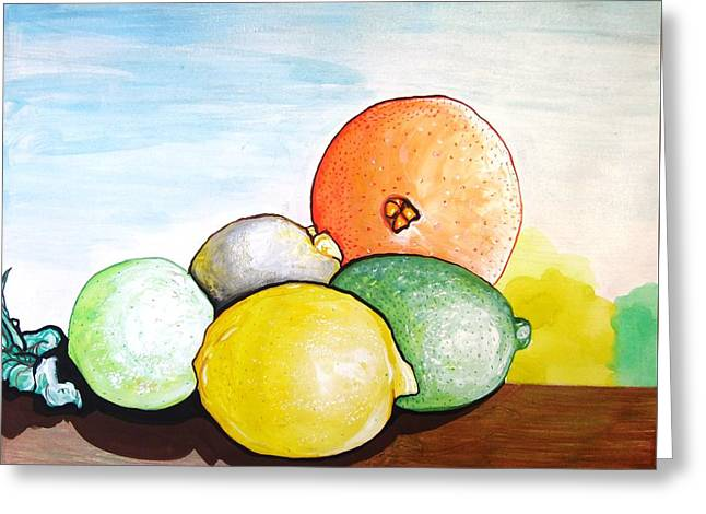 Citrus Greeting Card by MaryEllen Frazee