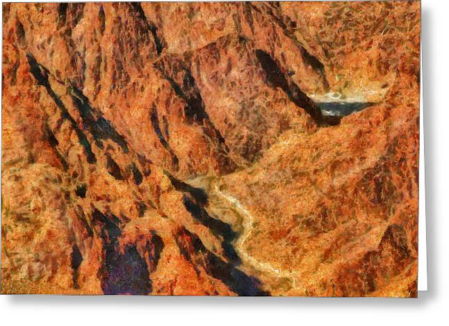 City - Arizona - Grand Canyon - A Look Into The Abyss Greeting Card by Mike Savad